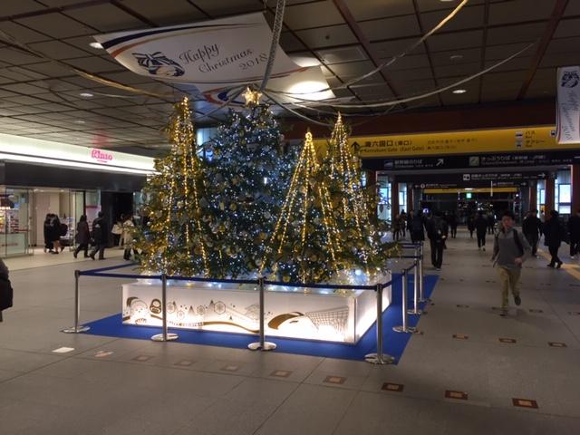 金沢駅のクリスマスツリー(2018年)
